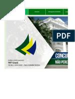 Edital Verticalizado TRT CE Técnico Judiciario Area Administrativa