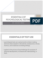 VI - Essentials of Psychological Testing