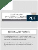 VI - Essentials of Psychological Testing