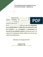 REQUERIMENTO DE DESFILIAÇÃO DO SINDICATO DOS POLICIAIS CIVIS DE ALAGOAS - MODELO.doc