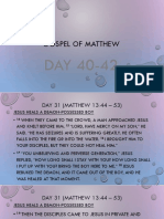 Lesson 14 (Gospel of Matthew)