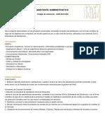 Resumen de Datos - Asistente Administrativo