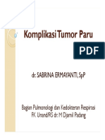 Komplikasi Tumor Pada Paru