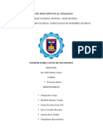 Informe Costos de Transporte en Mineria