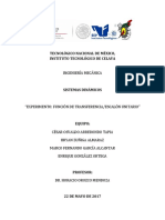 Experimento - Función de Transferencia - Escalón Unitario