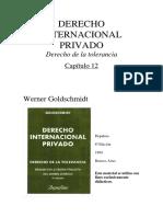DER. INTERNACIONAL PRIVADO. GOLDSHMINDT-Capitulo 12