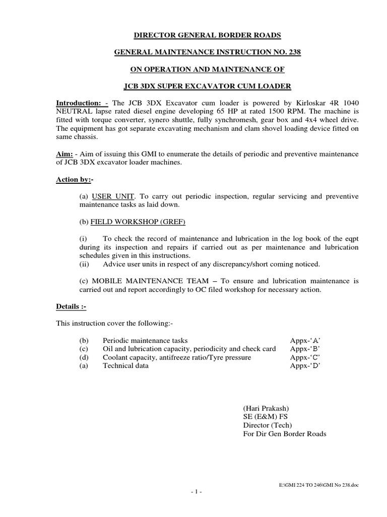 JCB 3DX Maintenance Manual   Transmission (Mechanics