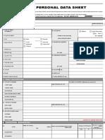 CS Form No 212 Revised Personal Data Sheet 2