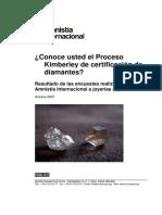 Conoce Usted El Proceso Kimberley de Certificación de Diamantes