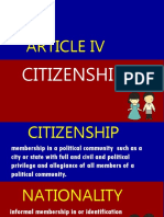 Article IV. Citizenship