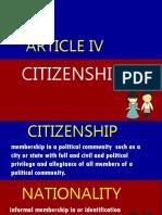 Article IV. Citizenship