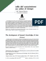 El Desarrollo Del Conocimiento Humano Sobre El Tiempo