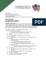 advanced theatre syllabus 17-18