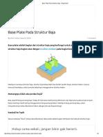 Base Plate Pada Struktur Baja - Blog Nobel