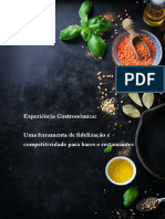 Estudo Experiência Gastrônomica Sebrae