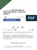 Porcelanato Liquido vs Microcemento Cual Es Mejor