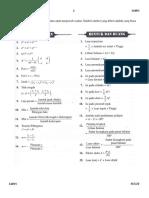 Rumus-rumus Matematik K1