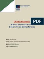 Cuadro Resumen Competencias Formacion Para El Trabajo