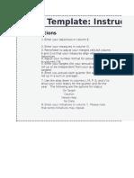 Balanced Scorecard Excel Template