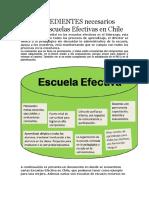 Los INGREDIENTES Necesarios Para Las Escuelas Efectivas en Chile