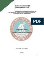31771750 Importancia de La Coordinacion Educativa en Centros Escolares de Guatemala a Nivel Privado