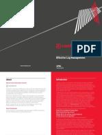 2014 05 07 Effective Log Management Booklet
