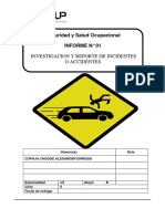 Investigacion de Incidentes o Accidentes