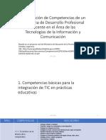 Competencias de Un Programa de Desarrollo Profesional Docente en TICS