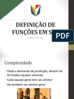 2. Definição de Funções Em Set