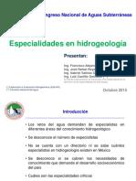 Especialidades de Hidrogeologia