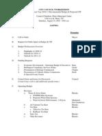 Plano City Council Budget Session