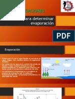 Metodos Para Determinar Evaporacion