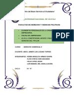 Elementos Personales de La Organizacion Empresarial. Fig. Del Empresario. Eirl Grupo 3