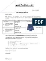 Interview Call Letter
