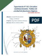 Informe previo 2 - Circuitos Digitales I FIEE-UNMSM