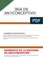 Asesoria en Anticonceptivo