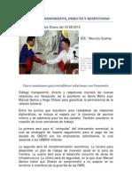 Diálogo transparente Santos - Chavez el 09-08-2010