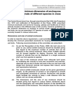 Zoo - Minimum Dimension of Enclosures
