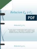 Relacion C_p y C_v