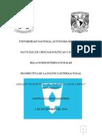 Prospectiva de La Polítcia Internacional- Punto 6 de la Agenda 2030 de la ONU