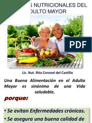 Alimentacion saludable para el adulto mayor pdf