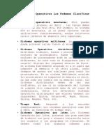 Los Sistemas Operativos Los Podemos Clasificar en RESUMEN DIDIERresumen