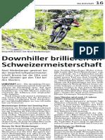Botschaft 2017 August Downhiller Brillieren an Schweizermeisterschaft