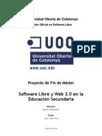 Software libre y Web 2.0 en la Educación Secundaria
