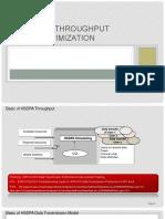 HSDPA Throughput Optimization Case Study