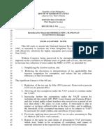 Billl reducing Vat filed