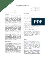 VLSI Fabrication Process