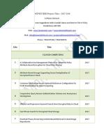 Dotnet IEEE Projects Titles 2017-2018 | Dotnet IEEE Projects 2017-2018