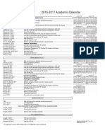 2016-17 Academic Calendar Draft Amended 6-3-16