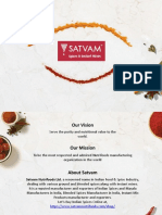 Spices Manufacturing Companies In India | Satvam Nutrifoods Ltd.